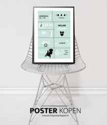 Geboorteposter l Baby kamer posters l Online Poster Kopen