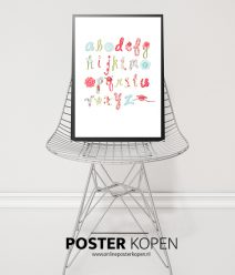 alfabet-poster-kinderkamer-poster-hippe poster-onlineposter-kopen