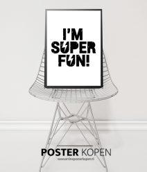 Poster-I'm super fun-kinderkamer-onlineposterkopen