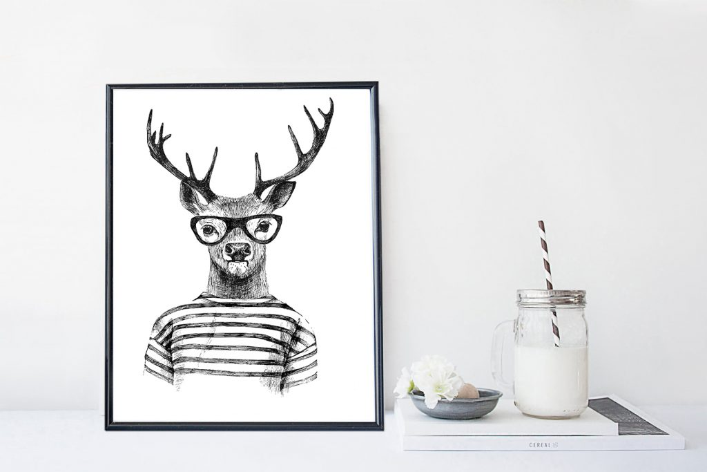 oh deer-poster-onlineposterkopen-designclaud