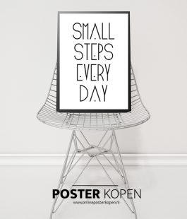 small-steps-every-day-tekstposter-poster-onlineposterkopen