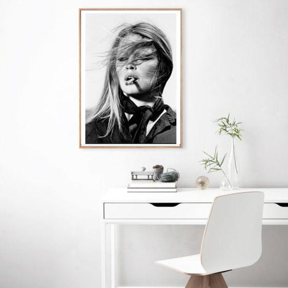 Brigitte Bardot with Cigar poster l Limited Edition l Online Poster Kopen