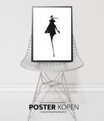 Fashion poster- zwart wit print- Online Poster Kopen