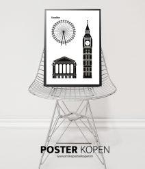 London- stedenposter -premium kwaliteit - onlineposter kopen