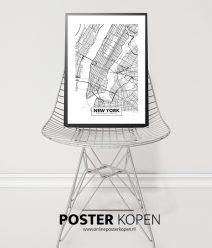 New York Steden poster -premium kwaliteit - onlineposter kopen