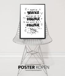 Kinderposter - Unicorn - online poster kopen