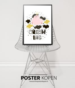 dream-big -unicornposter-onlineposterkopen