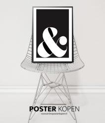 & teken poster-zwart wit-onlineposterkopen