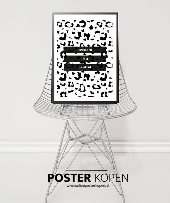 leaopard -tekstposter- onlineposterkopen-