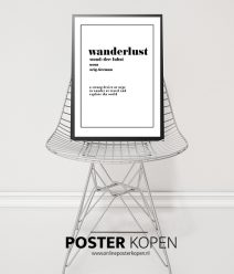 wanderlust -tekstposter- onlineposterkopen-