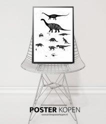 Dinosaurus -textielposter-onlineposterkopen