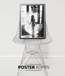 White dress- fashionposter-online postr kopen
