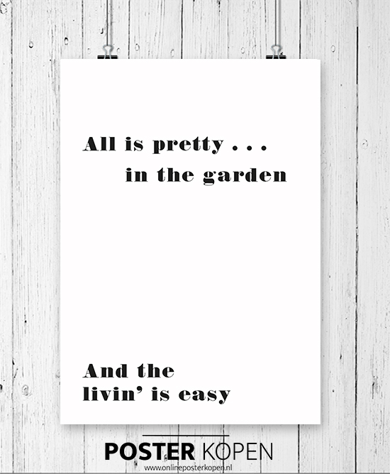 Tuinposter-pretty in the garden- onlineposterkopen