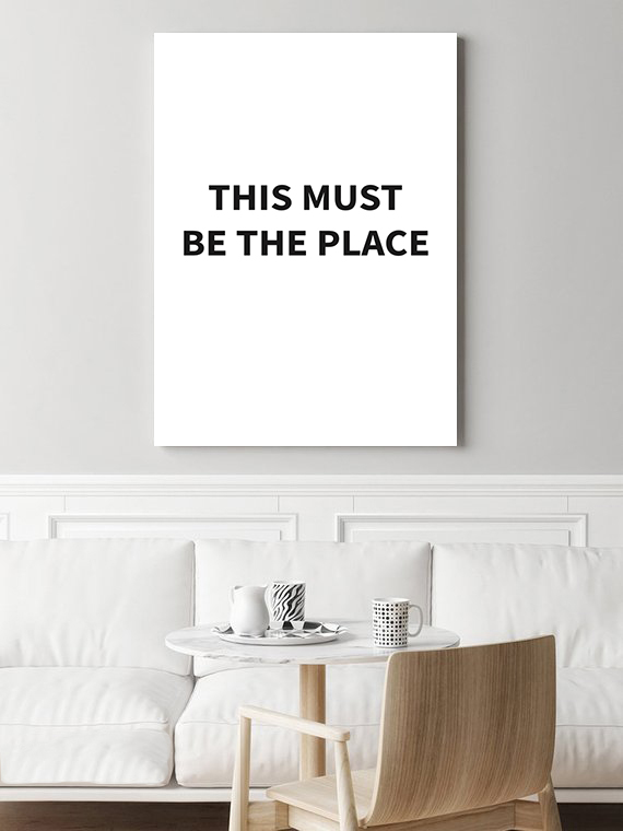 Tekst Op Muur.Poster This Must Be The Place Tekst Poster Muur Poster