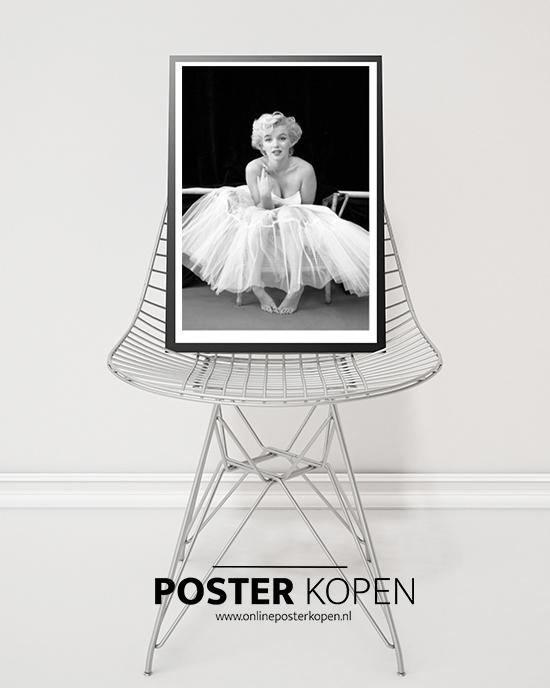 Poster Marilyn Monroe - Filmster poster - Zwart wit poster Filmster