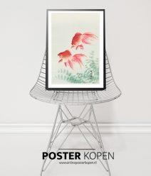 Twee goudvissen Ohara Koson poster-onlineposterkopen