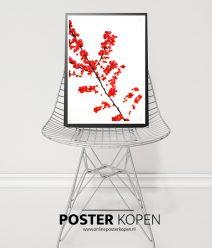 kerstposter-rode-bessen-poster-onlineposterkopen