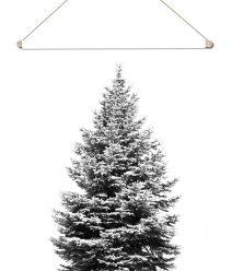 textielposter-kerstboomposter-zwart-wit-onlineposterkopen