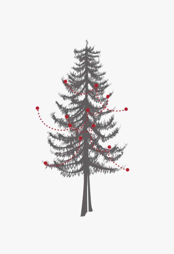 -KERSTBOOM-POSTER _Zwarte kerstboom