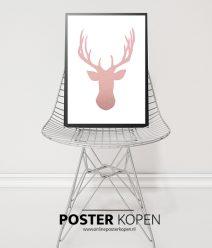 kerstposter-hert-rose-onlineposterkopen