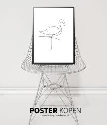 flamingo-schets-poster