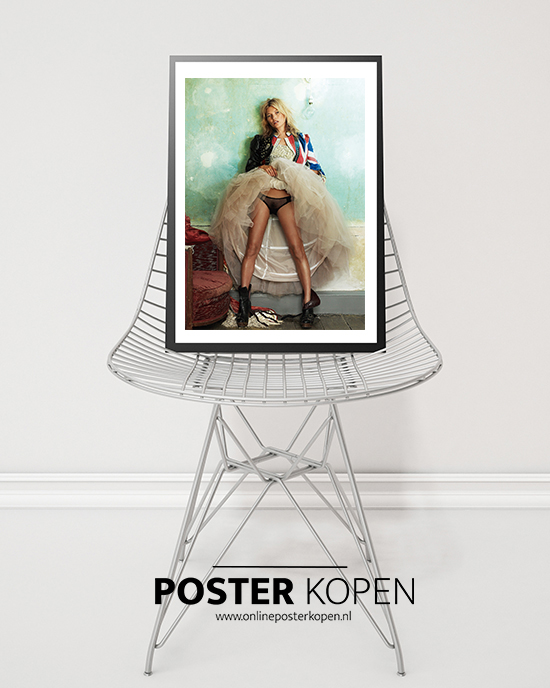 Kate Moss poster- fashion-poster-kate-moss-onlineposterkopen