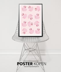 poster met eendjes - kinderkamer poster-onlineposterkopen