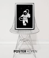 poster met astronaut- posters kinderkamer - zwart wit posters - kinderposters