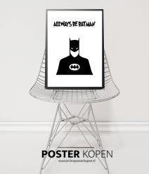 batman poster- zwartwit kinderposter- onlineposterkopen