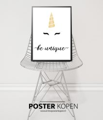 unicorn poster- posters kinderkamer - zwart wit posters - kinderposters