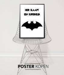 superman poster- posters kinderkamer - zwart wit posters - kinderposters