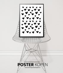 hartjes poster- posters kinderkamer - zwart wit posters - kinderposters