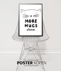 poster met poesje- kinderkamer poster-onlineposterkopen