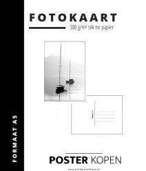 Fotokaart met nstuurprint- Postkaart - mini poster