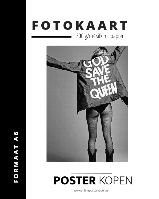 Fotokaart God save the Queen -God save the Queen fotokaart - Online Poster Kopen