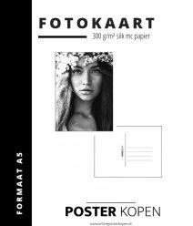 Fotokaart boho girl - Postkaart - mini poster