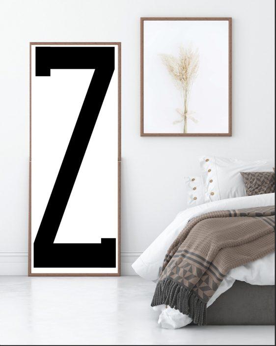 Poster Z - XXL - Letter Z xxl