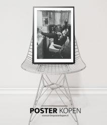 udrey-hepburn-fashion-poster-zwart-wit poster