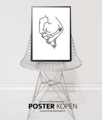 artline-zwart-witposter-loveposter-onlineposterkopen
