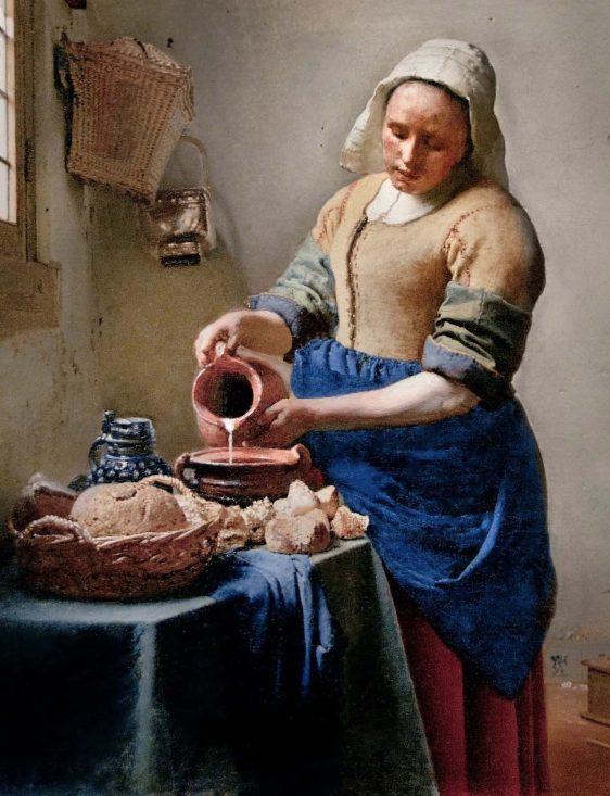 Poster het melkmeisje Melkmeisje Johannes Vermeer - Kunst poster - Reproductie