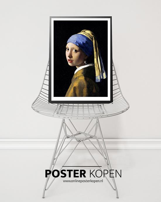 Poster het meisje met de parel - Vermeer poster-Kunst poster – Abstracte poster – Design poster – Poster met een kunst print
